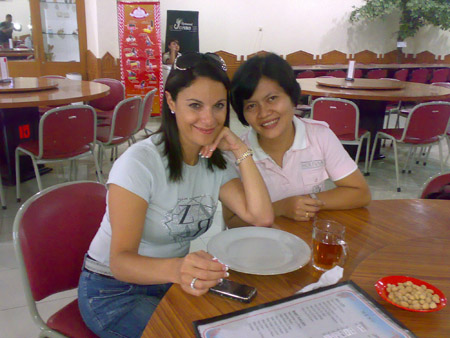 Ms. Ipur with Ms. Mariella